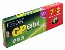 Батарея GP Extra Alkaline 15AX LR6 AA (промо:7+3) (10шт)