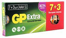 Батарея GP Extra Alkaline 24AX LR03 AAA (промо:7+3) (10шт)