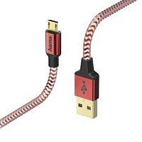 Кабель Hama 00178288 micro USB B (m) USB A(m) 1.5м красный