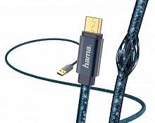 Кабель Hama Glitter 00183204 micro USB B (m) USB A(m) 1.5м синий