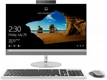 "Моноблок Lenovo IdeaCentre 520-24IKU 23.8"" Full HD i3 7020U (2.3)/4Gb/1Tb 7.2k/530 2Gb/DVDRW/CR/Windows 10/GbitEth/WiFi/BT/90W/клавиатура/мышь/Cam/серебристый 1920x1080"
