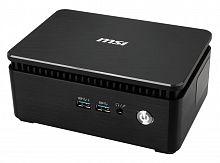 Неттоп MSI Cubi 3 Silent S-038XRU slim i3 7100U (2.4)/4Gb/500Gb/HDG620/noOS/GbitEth/WiFi/BT/65W/черный/серебристый