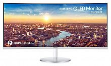 "Монитор Samsung 34"" C34J791WTI серебристый VA LED 4ms 21:9 HDMI M/M полуматовая HAS 3000:1 300cd 178гр/178гр 3440x1440 DisplayPort USB 7.7кг"