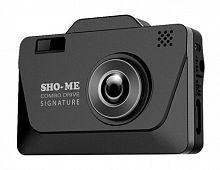 Видеорегистратор с радар-детектором Sho-Me Combo Drive Signature GPS ГЛОНАС черный