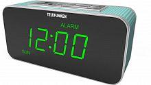 Радиоприемник настольный Telefunken TF-1503U голубой/зеленый USB SD