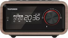 Радиоприемник настольный Telefunken TF-1582UB дерево темное USB SD/MMC