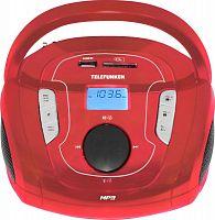 Аудиомагнитола Telefunken TF-SRP3471B красный 3Вт/MP3/FM(dig)/USB/BT/SD