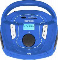 Аудиомагнитола Telefunken TF-SRP3471B синий 3Вт/MP3/FM(dig)/USB/BT/SD
