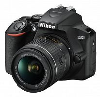 """Зеркальный Фотоаппарат Nikon D3500 черный 24.2Mpix 18-55mm f/3.5-5.6 VR AF-P 3"""" 1080p Full HD SDXC Li-ion (с объективом)"""