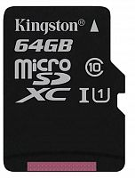 Флеш карта microSDXC 64Gb Class10 Kingston SDCS/64GBSP w/o adapter
