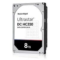 "Жесткий диск WD Original SAS 3.0 8Tb 0B36400 HUS728T8TAL5204 Ultrastar DC HC320 (7200rpm) 256Mb 3.5"""
