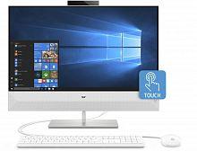 "Моноблок HP Pavilion 27-xa0023ur 27"" Full HD Touch i7 8700T (2.4)/12Gb/1Tb 7.2k/SSD128Gb/GTX1050 4Gb/CR/Windows 10 Advanced/GbitEth/WiFi/BT/150W/клавиатура/мышь/Cam/белый 1920x1080"
