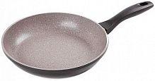 Сковорода Endever Stone-Grey Stone-Grey-24 круглая 24см ручка несъемная (без крышки) серый (80646)
