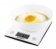 Весы кухонные электронные Scarlett SC-KS57B10 макс.вес:5кг белый