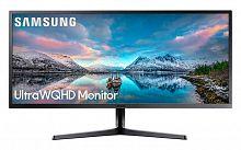 """Монитор Samsung 34"""" S34J550WQI черный VA LED 4ms 21:9 HDMI матовая 3000:1 300cd 178гр/178гр 3440x1440 DisplayPort WQHD 6.9кг"""