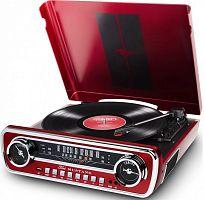 Проигрыватель винила ION Audio Mustang LP частично автоматический красный