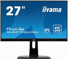 "Монитор Iiyama 27"" XUB2792UHSU-B1 черный IPS LED 4ms 16:9 DVI HDMI M/M матовая HAS Pivot 1000:1 300cd 178гр/178гр 3840x2160 DisplayPort QHD USB 6.4кг"