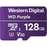 Флеш карта microSDXC 128Gb Class10 WD WDD128G1P0A Purple w/o adapter