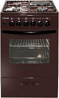 Плита Комбинированная Лысьва ЭГ 1/3г14 М2С-2у коричневый (стеклянная крышка)