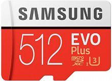 Флеш карта microSDXC 512Gb Class10 Samsung MB-MC512GA/RU EVO PLUS + adapter
