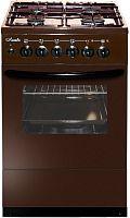 Плита Комбинированная Лысьва ЭГ 404 М2С-2у коричневый (стеклянная крышка) реш.чугун