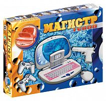 Игровая консоль Dendy Магистр Гений белый +Кабель AV, Джойстик 8-bit 9р- 2шт, Обучающий Картридж 8-bit, мышь