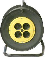 Удлинитель силовой Калибр УСК1-4-25 (217121) 2x1.5кв.мм 4розет. 25м ПВС 15A катушка черный