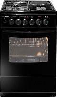 Плита Комбинированная Лысьва ЭГ 1/3г01 М2С-2у черный (стеклянная крышка)