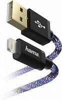 Кабель Hama Sporty 00183208 USB A(m) Lightning (m) 1.5м синий/розовый