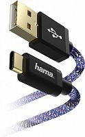 Кабель Hama Sporty 00183209 USB Type-C (m) USB A(m) 1.5м синий/розовый
