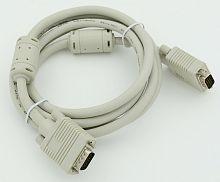 Кабель VGA (m) VGA (m) 1.8м феррит.кольца серый