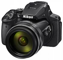 "Фотоаппарат Nikon CoolPix P900 черный 16Mpix Zoom83x 3"" 1080p SDXC CMOS 1x2.3 IS opt 1minF turLCD VF HDMI/WiFi/GPS/EN-EL23"