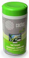 Салфетки Cactus CS-T1001E для экранов и оптики туба 100шт влажных