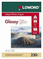 Фотобумага Lomond 0102025 A3/230г/м2/50л./белый глянцевое для струйной печати