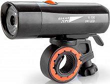 Фонарь велосипедный Яркий Луч V-100 черный 3Вт лам.:светодиод. AAAx4 (4606400615422)