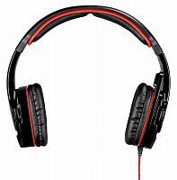 Наушники с микрофоном Hama Fire Starter черный/красный 2м мониторы оголовье (00053987)