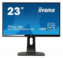 "Монитор Iiyama 23"" ProLite XUB2390HS-B1 черный IPS LED 5ms 16:9 DVI HDMI M/M матовая HAS Pivot 250cd 178гр/178гр 1920x1080 D-Sub FHD 5.4кг"
