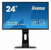 "Монитор Iiyama 23.6"" ProLite XB2481HS-B1 черный VA LED 6ms 16:9 DVI HDMI M/M матовая HAS Pivot 250cd 178гр/178гр 1920x1080 D-Sub FHD 5.5кг"