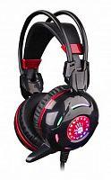 Наушники с микрофоном A4 Bloody G300 черный/красный 2.2м мониторные оголовье (G300)