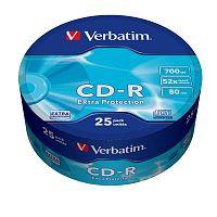 Диск CD-R Verbatim 700Mb 52x Cake Box (25шт) (43726)