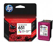 Картридж струйный HP 651 C2P11AE многоцветный (300стр.) для HP DJ IA