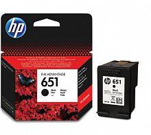 Картридж струйный HP 651 C2P10AE черный (600стр.) для HP DJ IA