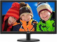 "Монитор Philips 21.5"" 223V5LHSB2 (00/01) черный TN LED 16:9 HDMI матовая 600:1 200cd 1920x1080 D-Sub FHD 2.61кг"