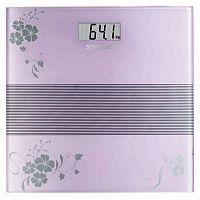 Весы напольные электронные Scarlett SC-BS33E060 макс.150кг фиолетовый/рисунок