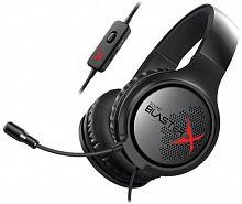 Наушники с микрофоном Creative Sound BlasterX H3 черный 1.2м мониторы оголовье (70GH034000000)