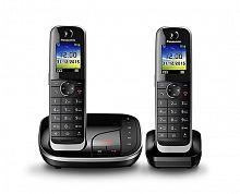 Р/Телефон Dect Panasonic KX-TGJ322RUB черный (труб. в компл.:2шт) автооветчик АОН
