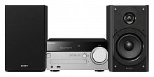 Микросистема Sony CMT-SX7 черный/серебристый 100Вт/CD/FM/USB/BT
