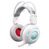 Наушники с микрофоном A4 Bloody G300 белый 1.8м мониторные оголовье (G300)
