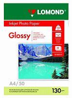 Фотобумага Lomond 0102017 A4/130г/м2/50л./белый глянцевое для струйной печати