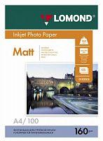 Фотобумага Lomond 0102005 A4/160г/м2/100л./белый матовое для струйной печати